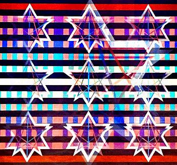 Newborn Star 1995 Limited Edition Print - Yaacov Agam