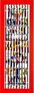 Menorah Series: Untitled Serigraph  Limited Edition Print - Yaacov Agam