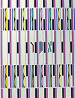 Asher, 1 of the 12 Tribes Agamograph Sculpture by Yaacov Agam