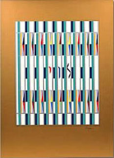 Levi, 1 of the 12 Tribes Agamograph Sculpture - Yaacov Agam