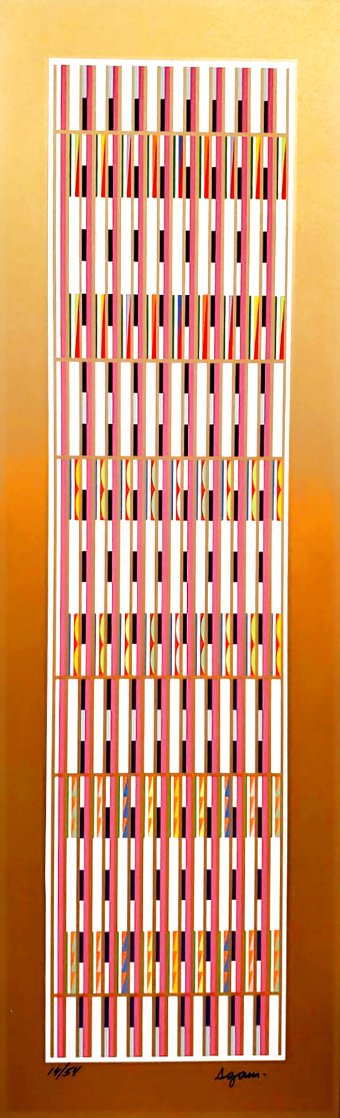 Vertical Orchestration III 1979 Limited Edition Print by Yaacov Agam