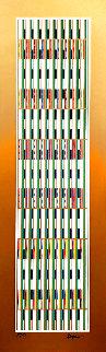 Vertical Orchestration V 1979 Limited Edition Print - Yaacov Agam
