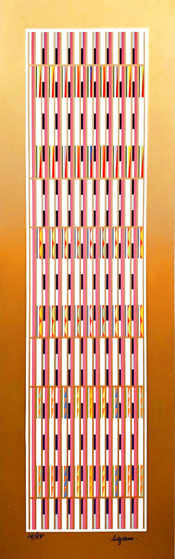 Vertical Orchestration VI 1979 Limited Edition Print by Yaacov Agam
