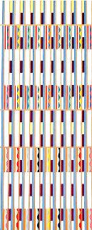 Vertical Orchestration X 1979 Limited Edition Print - Yaacov Agam