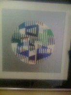 Silver Circle Limited Edition Print by Yaacov Agam - 2