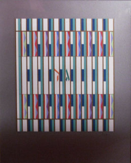 12 Tribes of Israel Gaad and Levi Agamograph 1981 Sculpture - Yaacov Agam