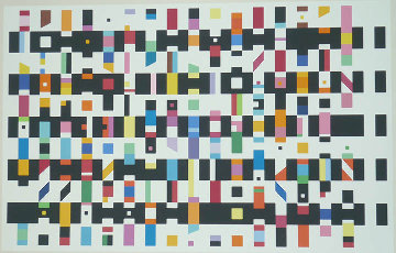 Untitled Silk Screen 1976 Limited Edition Print by Yaacov Agam