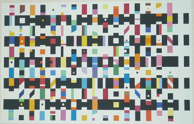 Untitled Silk Screen 1976 Limited Edition Print by Yaacov Agam