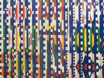 Vertical Midnight #3 Agamograph 1985 Sculpture by Yaacov Agam