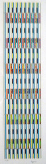 Vertical Orchestration Limited Edition Print by Yaacov Agam