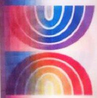 Holo Agamograph Rainbow Flag 2007 Sculpture by Yaacov Agam - 2