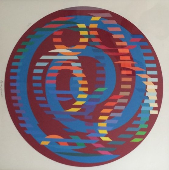 Round Magenta 2006 Limited Edition Print by Yaacov Agam