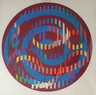 Round Magenta 2006 Limited Edition Print by Yaacov Agam - 3
