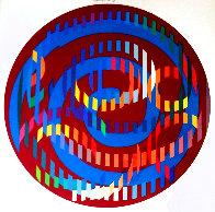 Round Magenta 2006 Limited Edition Print by Yaacov Agam - 2