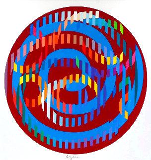 Round Magenta 2006 Limited Edition Print - Yaacov Agam