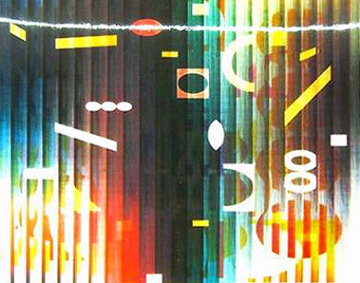 Love Secret Lithograph with Viewing Lens Limited Edition Print by Yaacov Agam