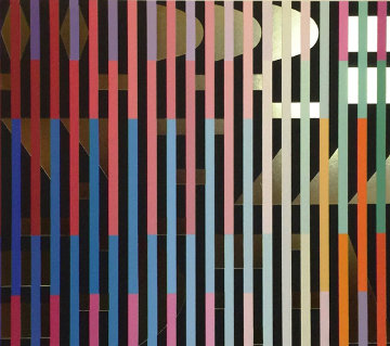 Gold 1980 Limited Edition Print by Yaacov Agam