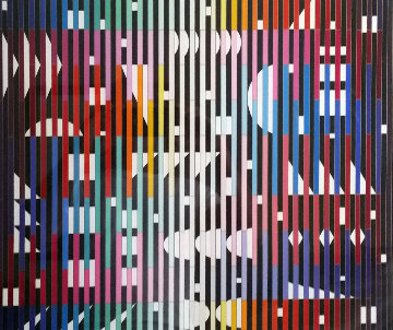 Anti Composition Paris 1982 Limited Edition Print - Yaacov Agam