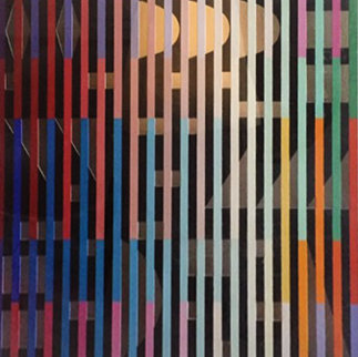 Silver AP 1980 Limited Edition Print by Yaacov Agam
