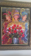 3 Ladies With Wildflowers 2004 Limited Edition Print by Otto Aguiar - 1