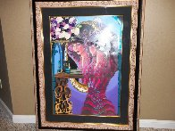 Emerald Eyes Embellished 1999 Limited Edition Print by Otto Aguiar - 1