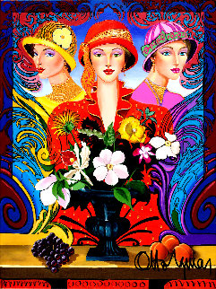 Three of Us 2005 48x36 Super Huge Original Painting - Otto Aguiar