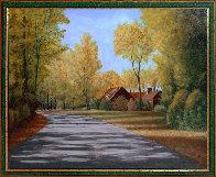 Stull Center 1998 26x32 Original Painting by Roy Ahlgren - 1