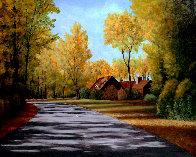Stull Center 1998 26x32 Original Painting by Roy Ahlgren - 2