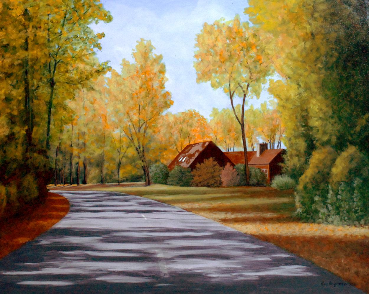 Stull Center 1998 26x32 Original Painting by Roy Ahlgren