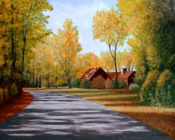 Stull Center 1998 26x32 Original Painting - Roy Ahlgren