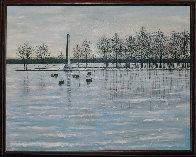 Misery Bay, Winter 2011 26x32 Pennsylvania Original Painting by Roy Ahlgren - 1
