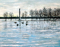 Misery Bay, Winter 2011 26x32 Pennsylvania Original Painting by Roy Ahlgren - 0