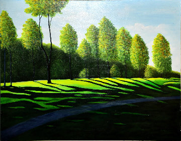 Peak Light Forms 2002 36x46 Original Painting by Roy Ahlgren