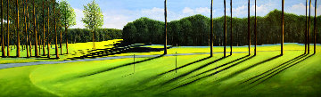 Putting Green 2001 24x64 Original Painting - Roy Ahlgren