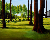 View From the 18th 2003 33x39 Huge Original Painting by Roy Ahlgren - 0