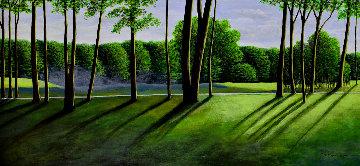Golfscape 2001 23x43 Original Painting - Roy Ahlgren