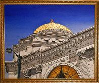 Gold Dome 1992 32x38 Buffalo New York Savings Bank Original Painting by Roy Ahlgren - 1