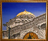 Gold Dome 1992 32x38 Buffalo New York Savings Bank Original Painting by Roy Ahlgren - 1