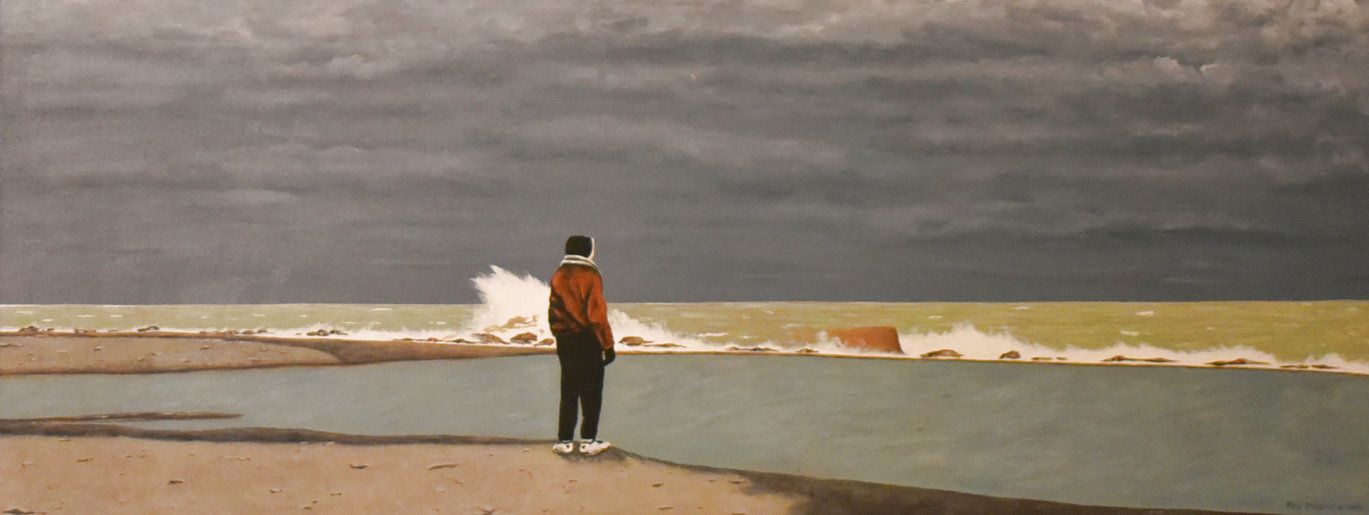 Roger's Song (Lost Boy) 1995 21x49 Original Painting by Roy Ahlgren