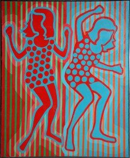 Op a Go Go 1966 47x39 Huge Original Painting - Roy Ahlgren