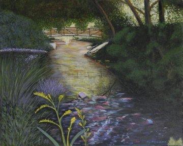 Frontier Park 2007 24x30 Original Painting - Roy Ahlgren