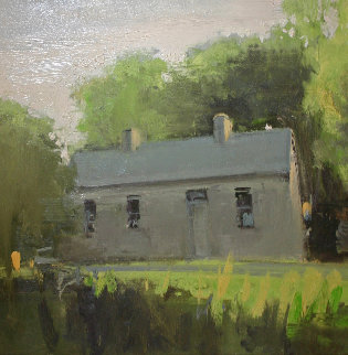 Untitled (Irish Cottage) 1996 24x24 Original Painting - Eric Aho