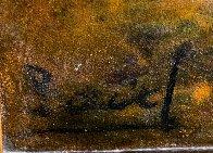 Girls Sit on River 1900 23x31 Original Painting by Paul Aizpiri - 3