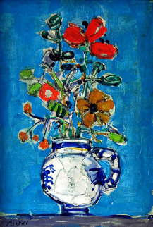 Untitled Still Life 23x16 Original Painting by Paul Aizpiri