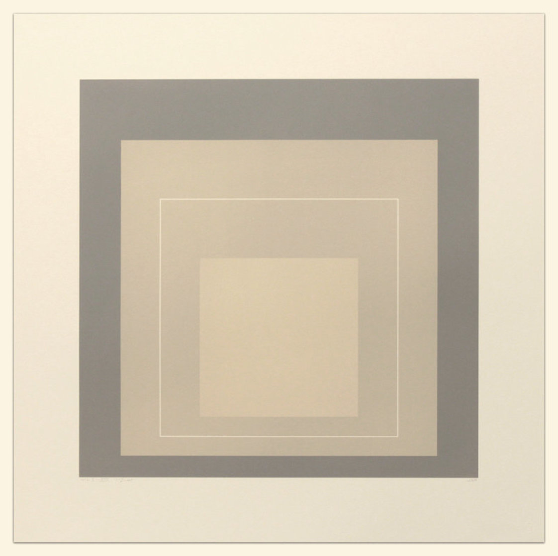 White Line Squares (Series Ii), XIV 1966 Limited Edition Print by Josef Albers