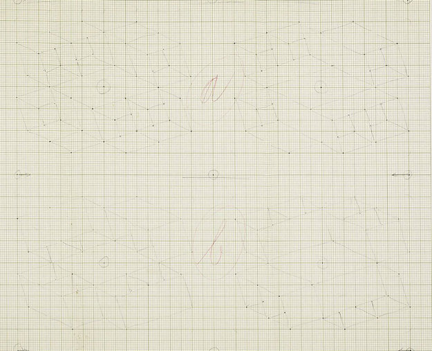 Study / Sketch For a Structural Constellation (C.1969) 22x27 Works on Paper (not prints) by Josef Albers