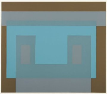 Six Variants, Suite of 6 Screenprints 1969 Limited Edition Print - Josef Albers