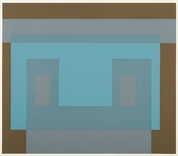 Six Variants, Suite of 6 Screenprints 1969 Limited Edition Print by Josef Albers