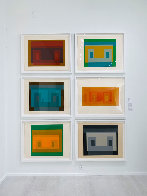 Six Variants, Suite of 6 Screenprints 1969 Limited Edition Print by Josef Albers - 6