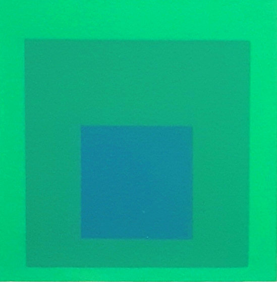 Soft Edge, Hard Edge: Emeraude  PP 1965 Limited Edition Print by Josef Albers